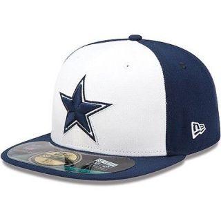 DALLAS COWBOYS STAR NFL NEW ERA 59FIFTY SIDELINE ON FIELD HAT CAP