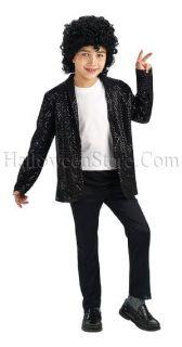 Billie Jean Deluxe Child Black Sequin Jacket Pop King