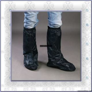 New Motorcycle Rain Boot Cover Waterproof Shoes Black L