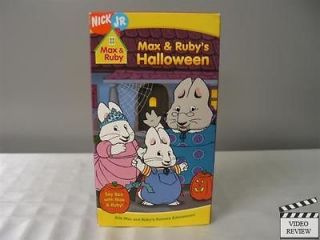 Max & Ruby   May & Rubys Halloween VHS Nick Jr. Home Video