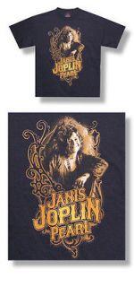 New Janis Joplin Pearl I mage ornate design Black XXL T shirt