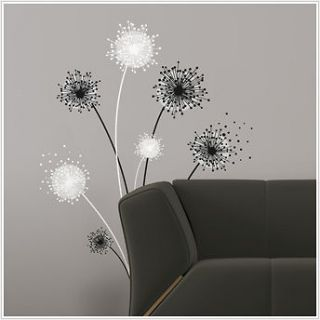 GRAPHIC DANDELION BiG Wall Stickers Mural Flowers Room Decor Decal