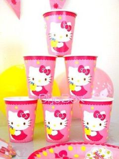 HELLO KITTY FOURTH BIRTHDAY FOUR 4TH PARTY kit supplies decoration