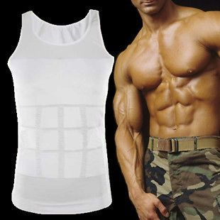 Men Sleeveless Corset Transgender Skirt Chest Binder Beer Belly Binder