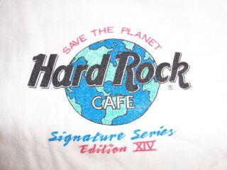 Authentic Hard Rock Cafe Signature Series XIV Peter Gabriel 1997 XL Wh
