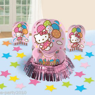23pc HELLO KITTY TABLE DECORATING KIT ~ Birthday Party Supplies