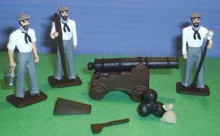 TOY SOLDIERS LEAD CIVIL WAR CONFEDERATE NAVY GUN SET