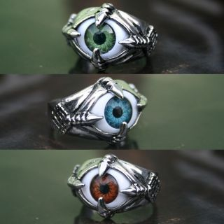 Monster Blue Green Brown EYE Mens & Womens Fashion Ring/NAIL_MULT I
