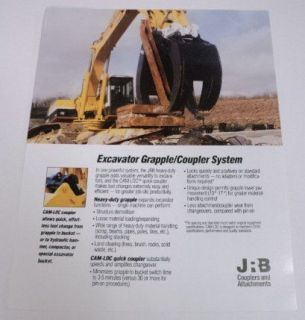 JRB 1993 Grapple/Couple r Excavator System Brochure