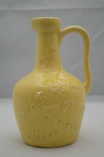 Newly listed Vintage Yellow Cafe Jug Pitcher 9 tall