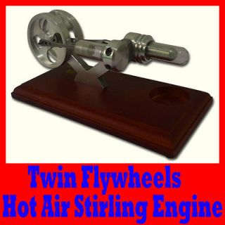 HOT AIR STIRLING ENGINE / STIRLINGMOTOR WITH 2 FLYWHEELS, EDUCATION