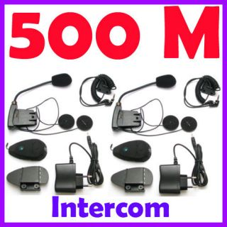 500M Interphone Bluetooth Motorcycle Motorbike helmet Intercom Headset