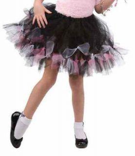 50s Sock Hop Pink Black Tutu Child Costume Accessory One Size NEW
