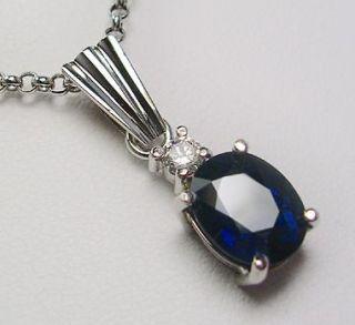 blue sapphire pendant in Vintage & Antique Jewelry
