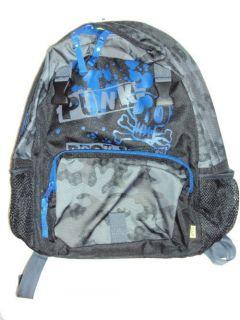 GAP kids BOYS SCHOOL BACKPACK BAG LUNCH BLACK GRAY BLUE PUNK ROCK