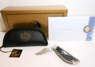 New Franklin Mint FORD BRONCO Collector Pocket Knife, Box, Pouch & COA