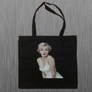 Marilyn Monroe Black Book Bag Shoulder Canvas Tote Bag