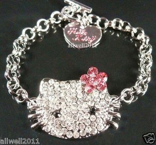 Hello Kitty Crystal Bling Bracelet Fashion jewelry Sparkle Cute B110