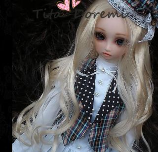 Dal.Pullip.BJD.SD LUTS BLYTH Doll LONG blonde curl wig hair 22
