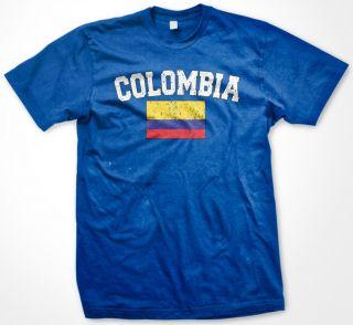 Colombia  Country Flag Soccer Futbol Mens Tshirt
