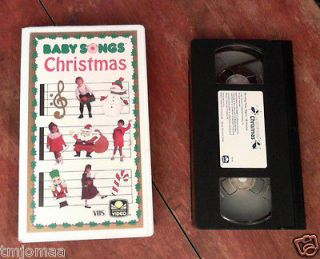 Baby Songs Baby Songs Christmas (VHS, 1991) Golden Book music video