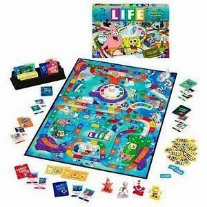 The Game of Life SPONGEBOB SQUAREPANTS Board Game