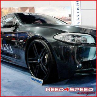 M6 ROHANA RC5 MATTE BLACK CONCAVE STAGGERED WHEELS RIMS (Fits BMW M6