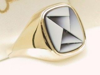 gold signet ring in Mens Jewelry