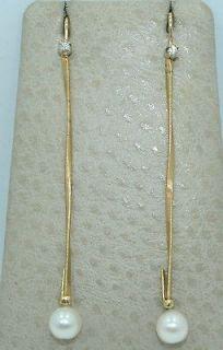 18K GOLD ~ Marco Bicego Marrakech Strand Earrings w/ 7.4 mm PEARLS