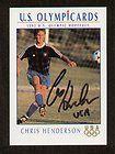 Chris Henderson signed autograph auto 1992 Impel U.S. Olympic Hopefuls