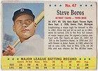 Post 1963 baseball #47 STEVE BOROS Detroit Tigers 3B (EX/NM)