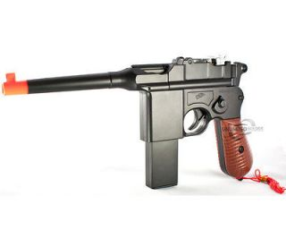 MAUSER BROOMHANDLE C96 GERMAN AIRSOFT SPRING HAND GUN PISTOL w/ 6mm BB