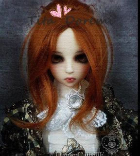 Dal.Pullip.BJD .SD LUTS BLYTH Doll long orange brown bun wavy wig