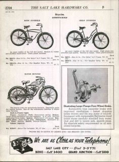 1948 49 ad Schwinn Built Bicyles Motor Bicycle Excelsior Flying Star