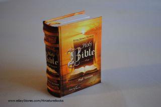 Holy Bible full version King James Miniature Book hardbound