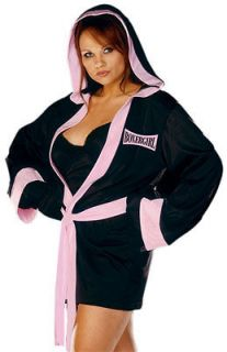 Wmans Plus Size Sexy Boxer Boxing Halloween Costume