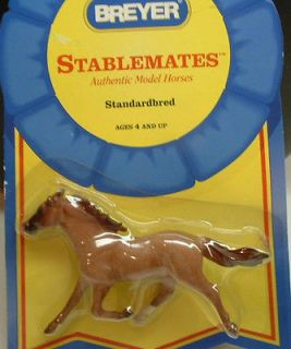 BREYER STABLEMATES STANDARDBRED HORSE   BROWN #5901 NEW 1:32 Scale
