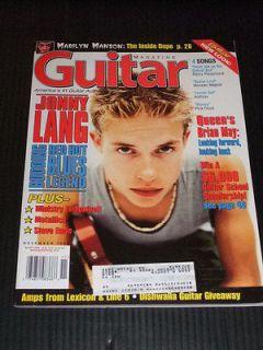 MAGAZINE Guitar 1998 11 Jonny Lang Marilyn Manson Queen Ministry