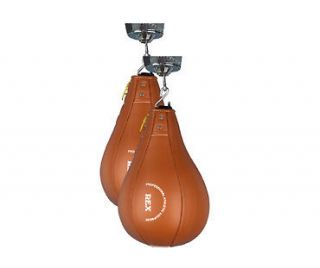 New Red Leather Speed Ball Bag use with Boxing Gloves