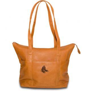 BOSTON RED SOX MLB Womens Tan Leather Tote Purse Bag