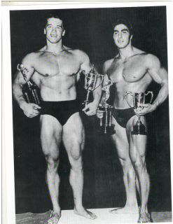 / Dennis Tinerino Mr Universe Show Bodybuilding Photo B&W