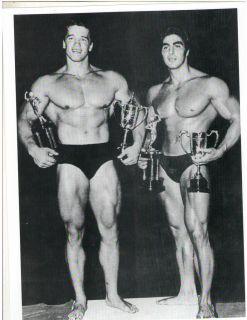 / Dennis Tinerino Mr Universe Show Bodybuilding Photo B&W