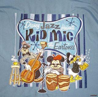 Mickey Mouse Retro Bowling Shirt Disneyland Resort Jazz Kid Mic