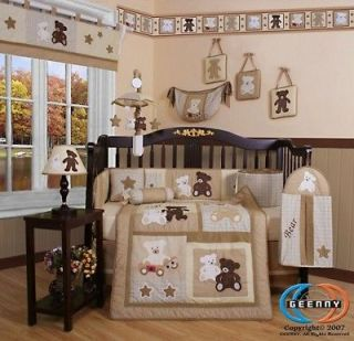 Newly listed Boutique Baby Teddy Bear 13PCS CRIB BEDDING SET