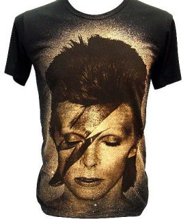 David Bowie Bolt ZIGGY STARDUST Punk Rock T Shirt M