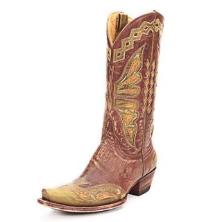 Old Gringo   Monarca   Brass/Green Cowgirl Boot   NIB