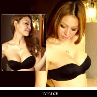 K108 Sexy Party / Wedding Strapless 1/2 Cup Invisible Push Up Bra