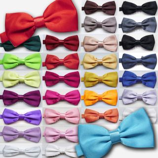 New mens Pre tied satin bowties bow ties