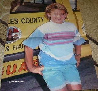 BRANDON CALL CENTERFOLD Young Cute In Shorts Baywatch