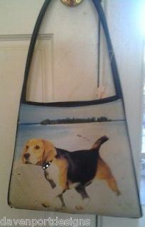 Beagle Purse handbag Walk on the Beach Seaside Hunting Water Sports